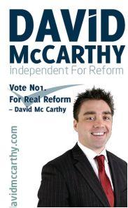 David McCarthy, Independent Candidate, Cork