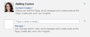 adding administrators on facebook