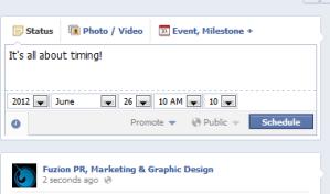Facebook - scheduling your posts