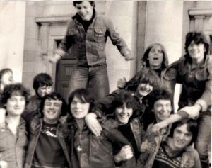 Boys at Thin Lizzy concert
