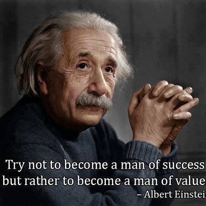 Albert Einstein - Man of Value, succession planning