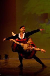 Ballerina Erina Takahashi from English National Ballet and her partner Yosvani Ramos