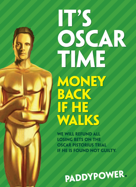 Oscar Pistorius Paddy Power advert