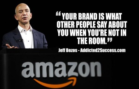 Jeff Bezoz, Amazon - Branding quote