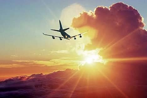 Image result for plane in the sky