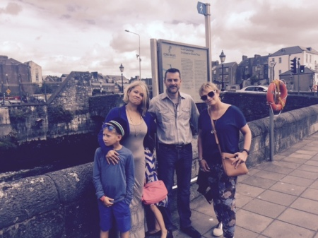 Family doing the South Parish Cork Walk