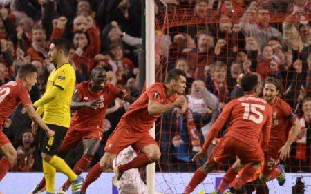 Lovren scores the winner against Borussia Dortmund