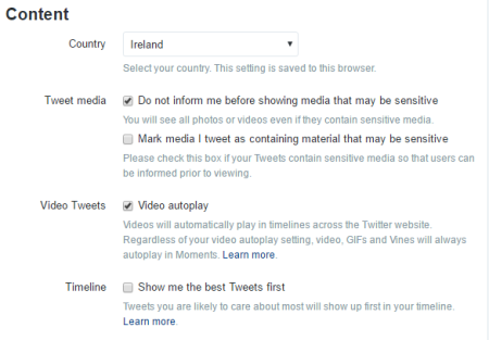 best tweets first feature