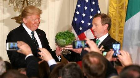 Ena Kenny and Donald Trump, Patrick's Day