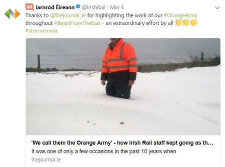 Orange Army - Irish Rail