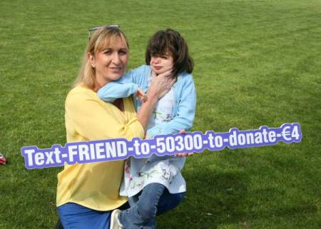 Eleanor O'Kelly Lynch with her daughter Lauren, CdLS awareness day
