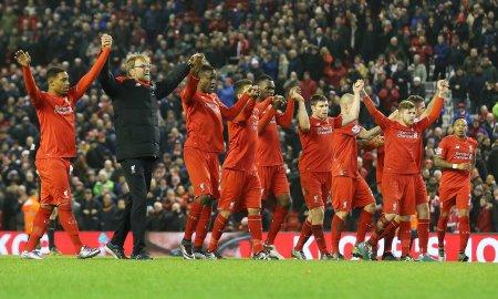 Liverpool celebration against West Brom