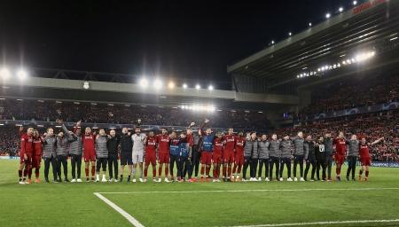 LIverpool celebration against Barcelona